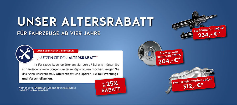 25 % Altersrabatt
